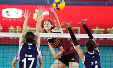Highlights of Chinese Women's Volleyball Championship in South China's Guangdong