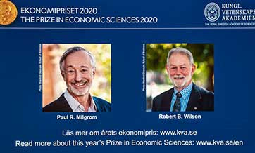 "Two U.S. economists win Nobel economics prize for ""improvements to auction theory"""