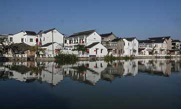 Scenery of Kaixiangong Village in Wujiang District of Suzhou, E China's Jiangsu