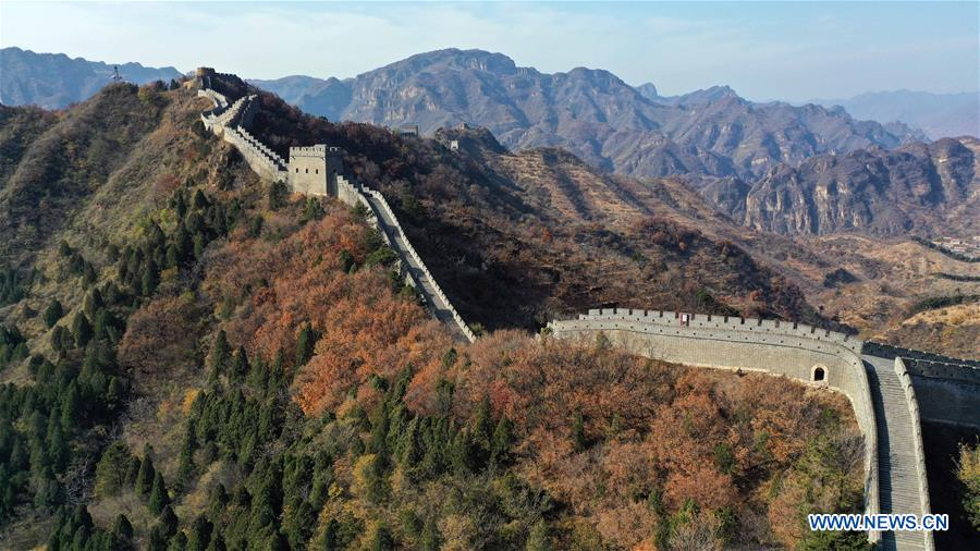 Autumn scenery of Taipingzhai Great Wall in Tianjin