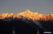 Scenery of Meili Snow Mountains at sunrise in Yunnan