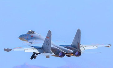 PLA Naval Aviation University organizes flight training