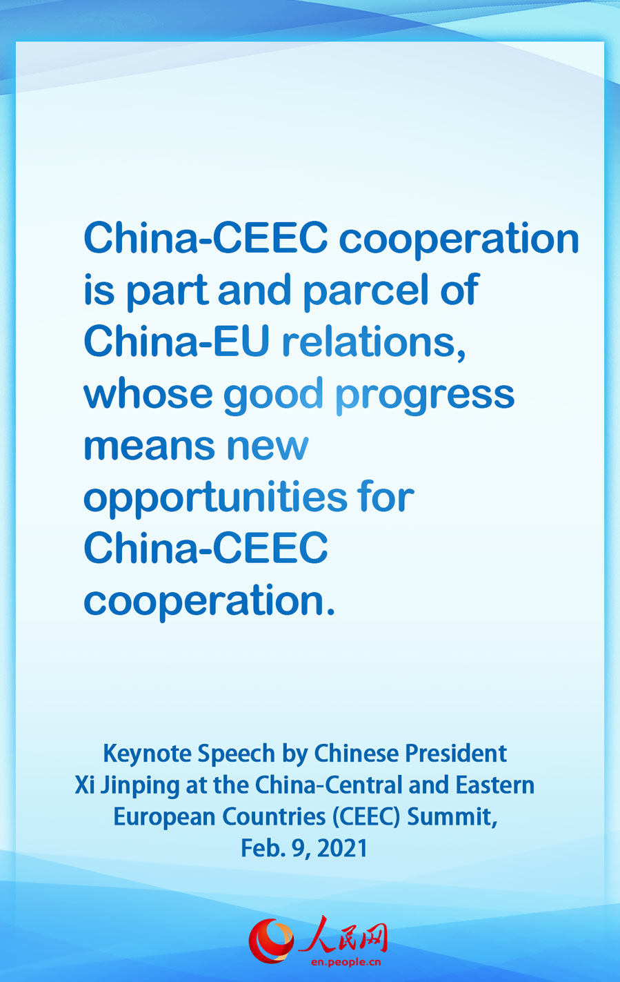 Highlights of the keynote speech by Chinese President Xi Jinping at the China-CEEC Summit