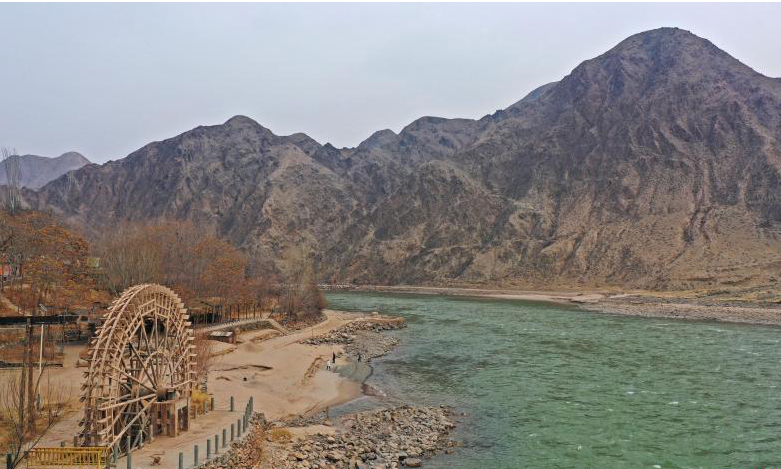 View of Ningxia section of Yellow River