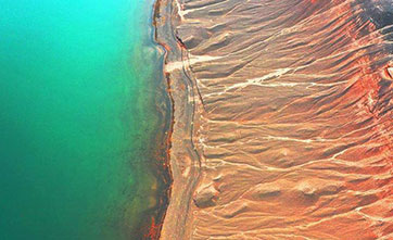 Scenery of yardang landform in Xinjiang