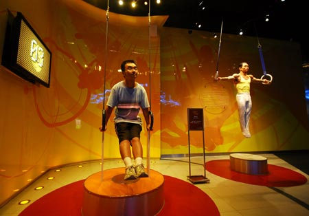 Wax figures of athletes in Shanghai