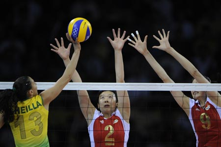 Defending champs China sent packing by Brazil in Olympic women\'s volleyball tournament