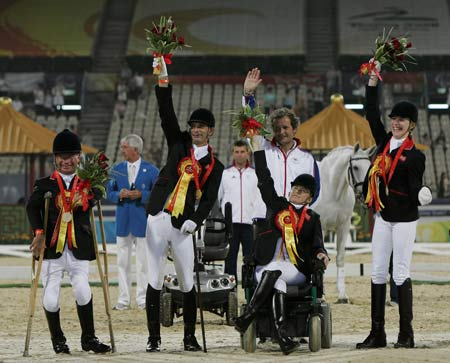 British, German riders become biggest winners in Para-equestrian Freestyle