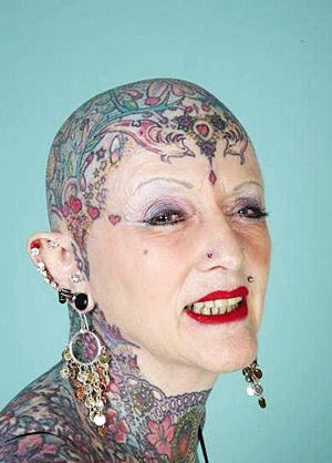 71 year old isobel varley world 39 s most tattooed senior woman for Tattoos for older adults