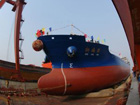 12,000-ton new bulk carrier sets afloat in E China port