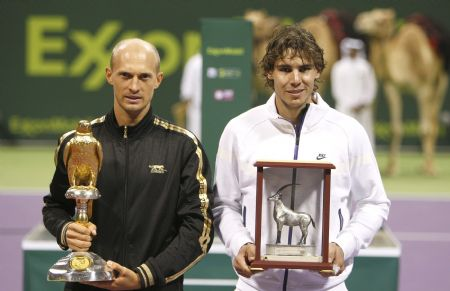 Davydenko defeats Nadal to win Qatar Open final