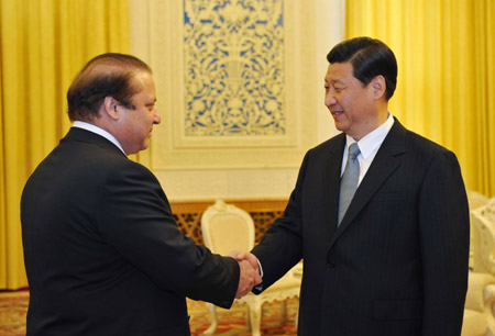Chinese vice president meets Pakistan opposition party chief
