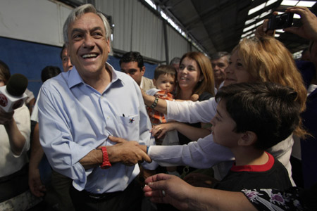 Opposition candidate Pinera wins Chile's presidential election