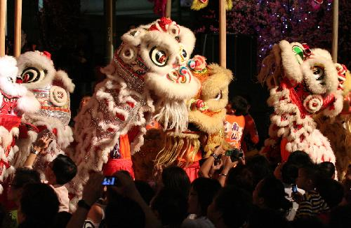 Lighting ceremony held in Singapore for upcoming Spring Festival