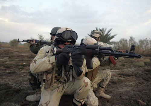 Iraqi soldiers launch raid operation in north of Kerbala