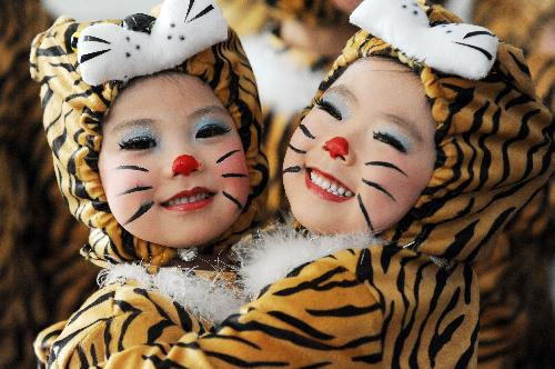"Jubilant little ""tigers"" greet lunar new year"