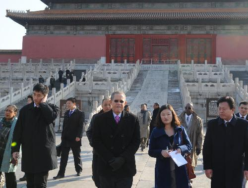 Jamaican PM visits Forbidden City
