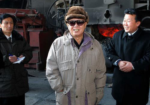 Kim Jong Il inspects Hwanghae Iron and Steel Complex