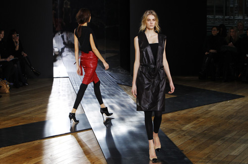 Nicole Farhi's collection displayed during London Fashion Week