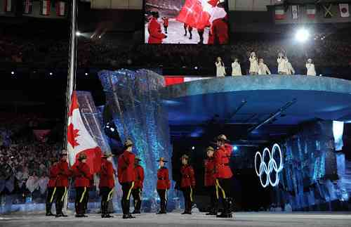 Snapshots from the closing ceremonies of the 2010 Winter Games in Vancouver