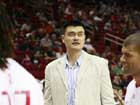 Yao Ming shows up at Rockets-Celtics game