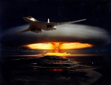 Artist's impression: nuclear bombing