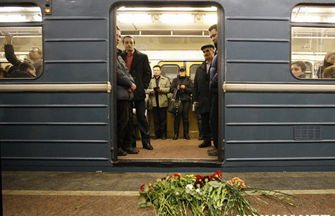 Moscow metro running again after double suicide bombing