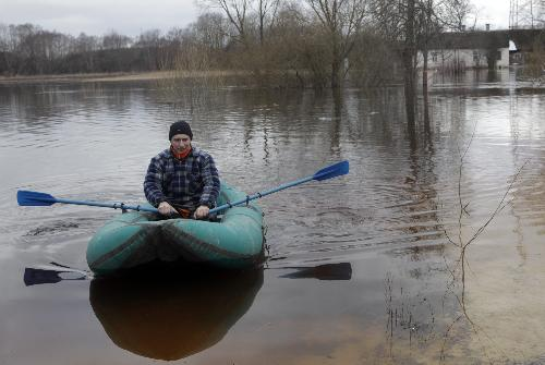Heavy flood hits Latvia