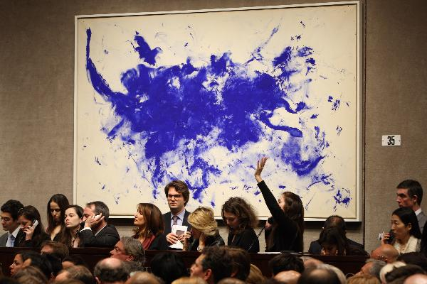 Art works auctioned at Christie's