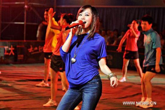 Jane Zhang Performs For China Table Tennis Super League