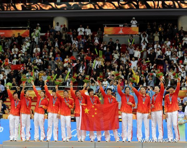 China wins women's basketball for fifth time