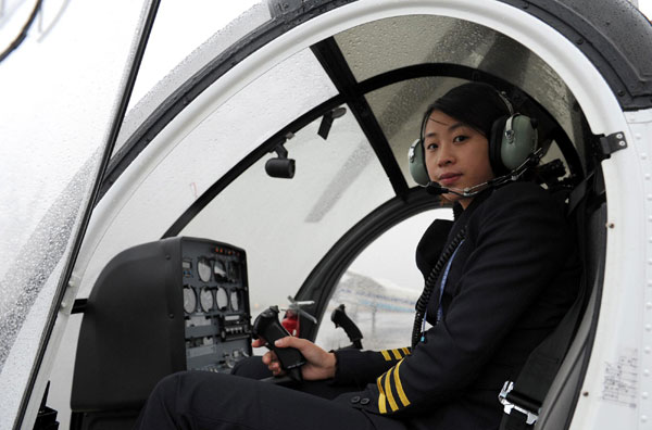 Chinese women chopper pilots flying high