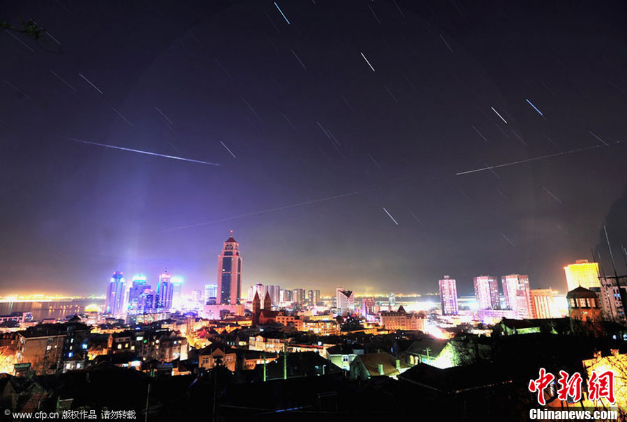 Photo: Geminid meteor shower lights up skies