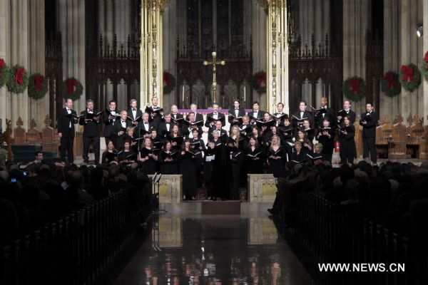 Annual concert of Christmas carols performed in New York