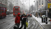 Heavy snow stalls traffic at London's two biggest airports