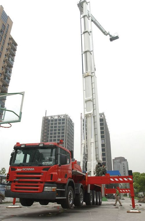 World S Most Advanced Fire Truck Can Reach 400 Meter Roof