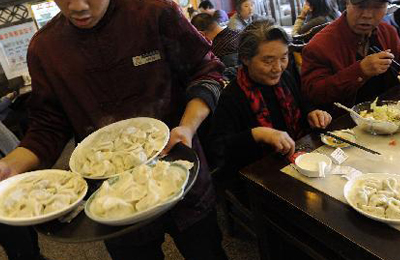 Dumplings popular on traditional Chinese winter solstice festival