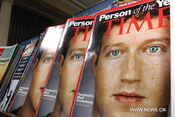 Facebook founder named 2010 TIME Person of the Year