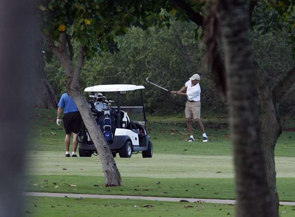 U.S. President Obama on vacation in Hawaii