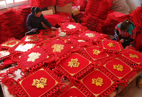 Tied up in knots ahead of Spring Festival