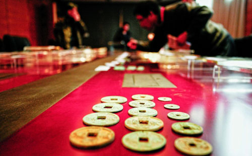Two tons of ancient coins unearthed in Zhejiang