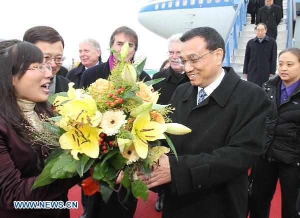 Chinese vice premier arrives in Munich