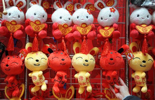 Rabbit toys popular ahead of 'Year of the Rabbit'