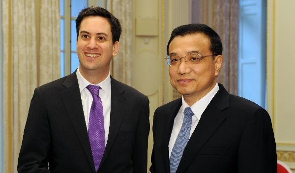 Chinese vice premier meets with Britain's Labor Party leader