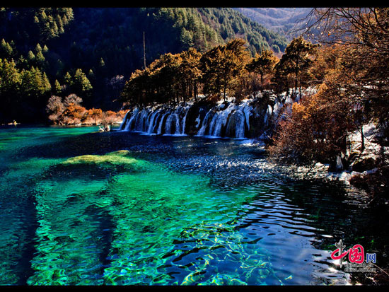 Amazing Jiuzhaigou Valley in winter