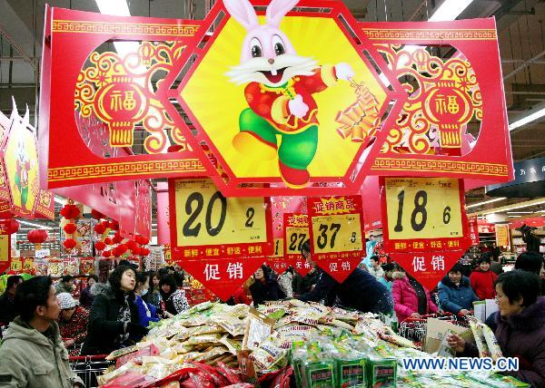 Chinese busy preparing for Spring Festival
