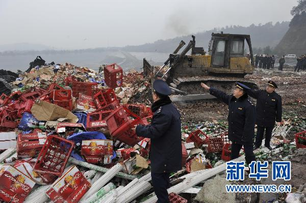 Fake, shoddy goods destroyed in Chongqing