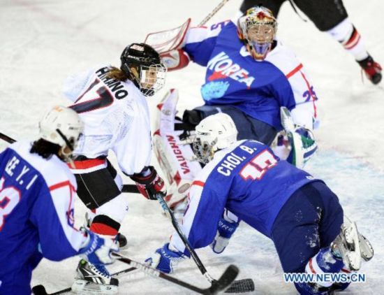 Japan defeats South Korea in ice hockey preliminary at Asian Winter Games