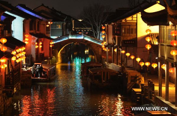 Night view of festive Suzhou