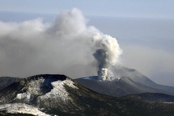 Japan's Kirishima volcano keeps erupting, spews ash